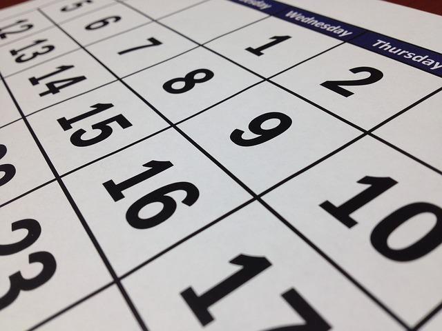 活動日カレンダーのイメージ